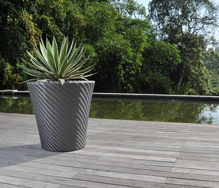 Modern Woven Large Outdoor Planters Lebello Com