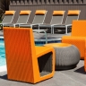 Custom B Chair 2 Orange and Titanium inner color for AVA Burbank Apartment, CA
