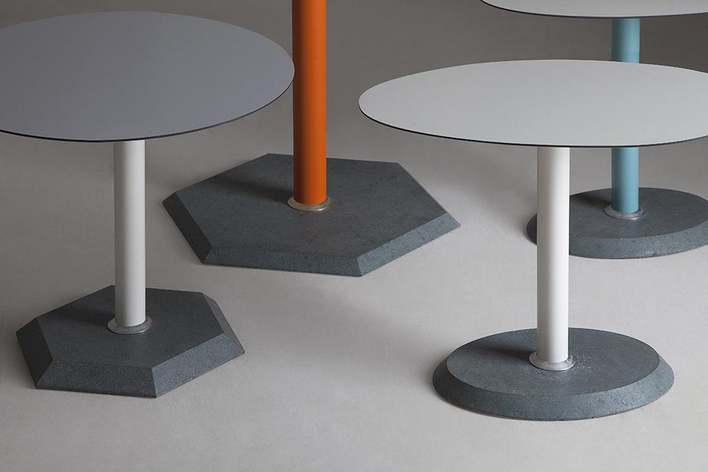 Granite Stone Hexagon Table : Modern Outdoor Tables Lebello