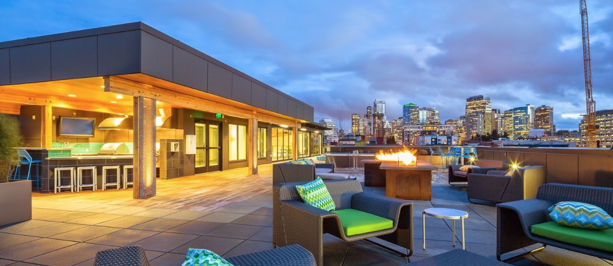 rivet apartment seattle lebello outdoor seating