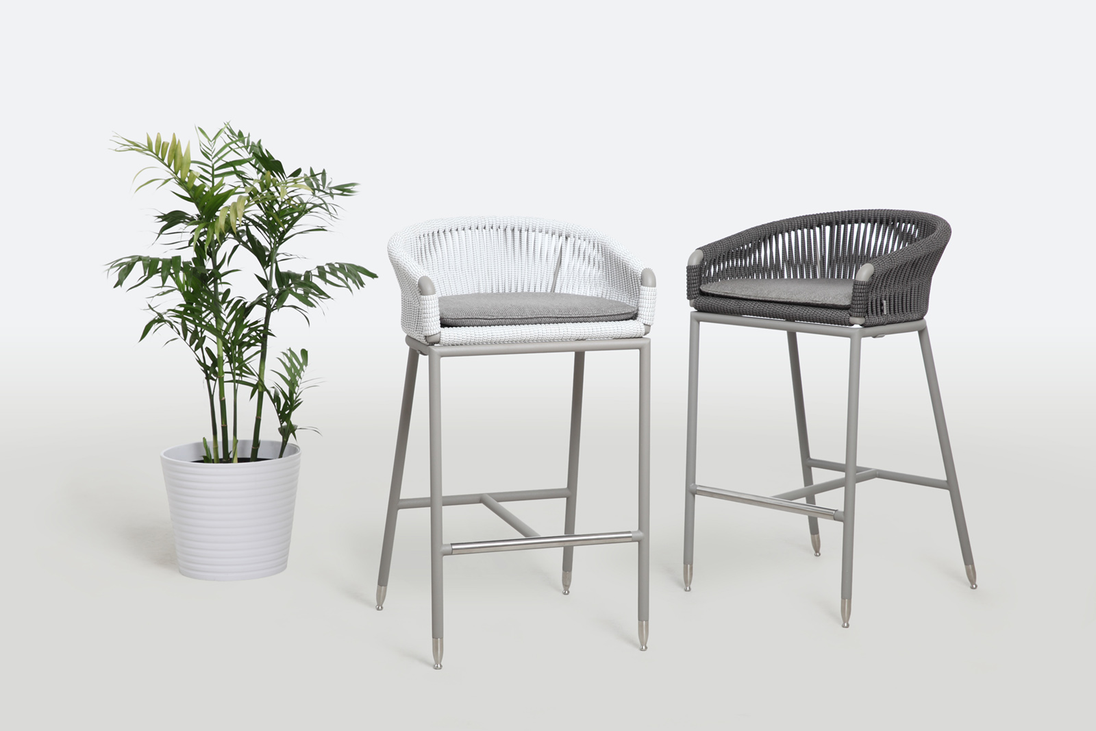 Exclusive Outdoor Rope Stool Lebello Outdoor Furniture