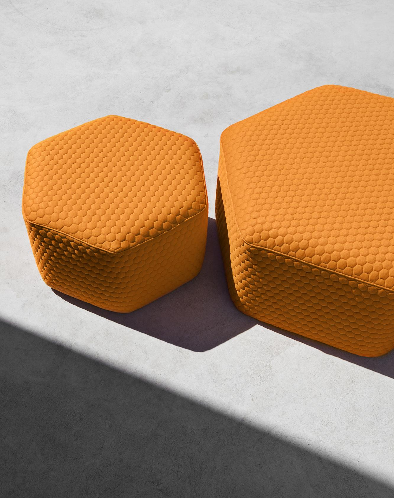 Outdoor lounger chair - Hexagon Outdoor Stool Amp Poufs Lebello Outdoor Furniture