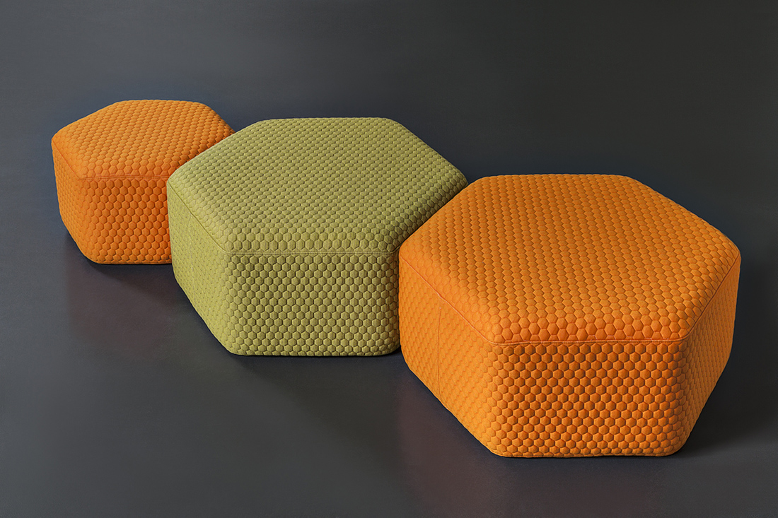 Hexagon Outdoor Stool Amp Poufs Lebello Outdoor Furniture