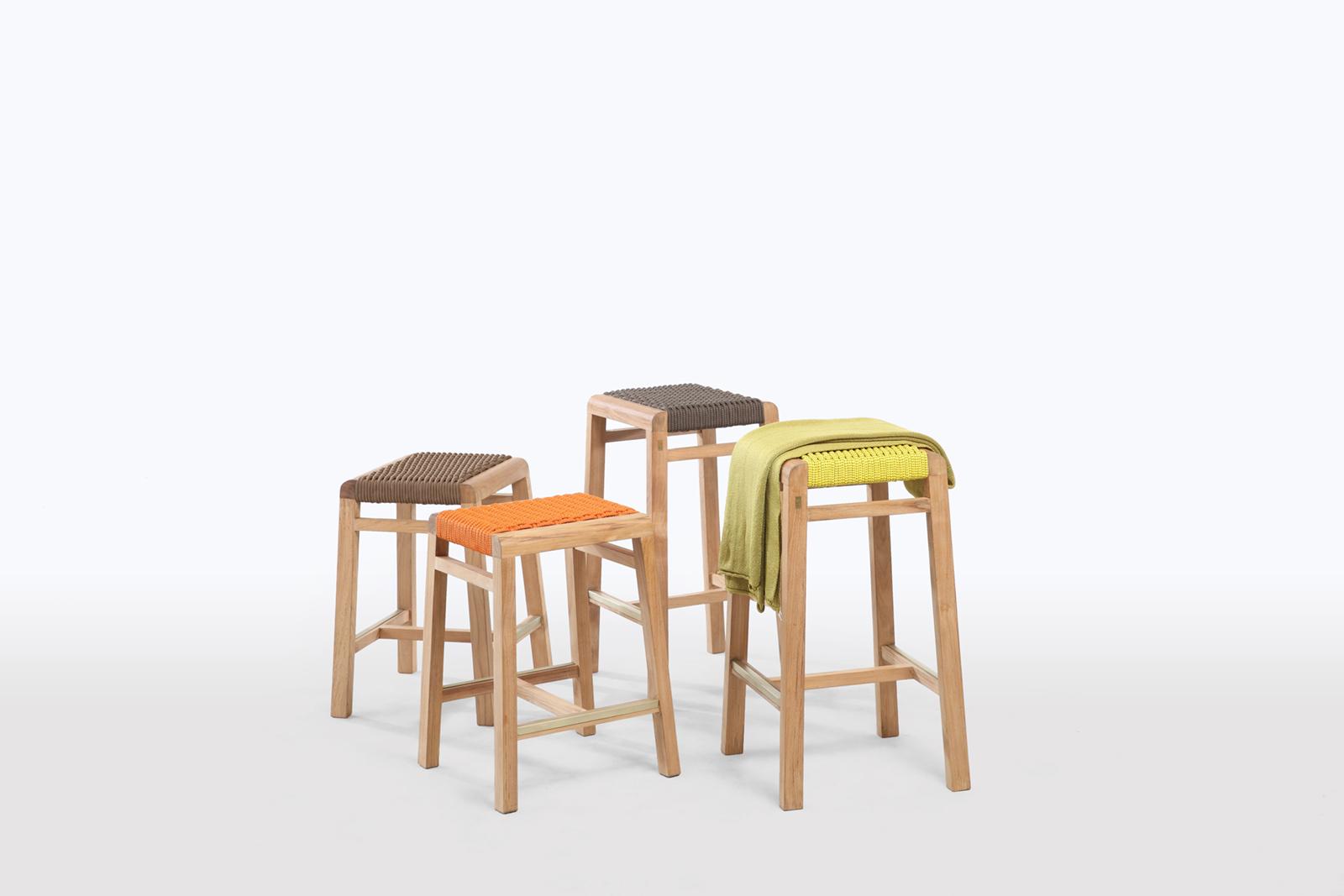 4L Teak Rope Stools – Lebello Outdoor Furniture