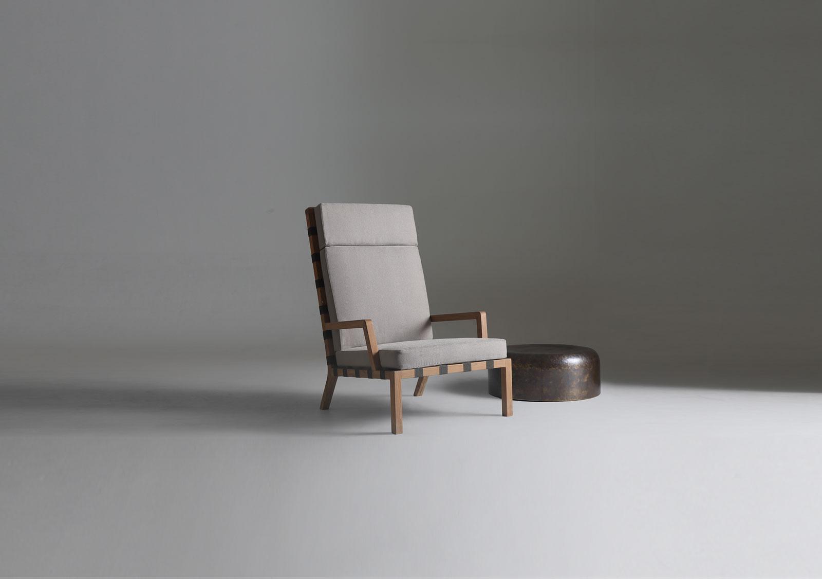 Strap Teak Lounge Chair Christophe Pillet For Lebello
