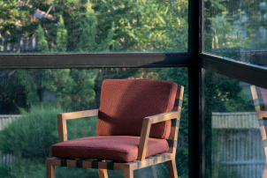 Strap Teak Arm Chair