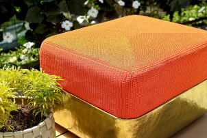 Outdoor Brass Cube Stool
