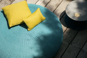 Soft Outdoor Spinball Pouf & Stools